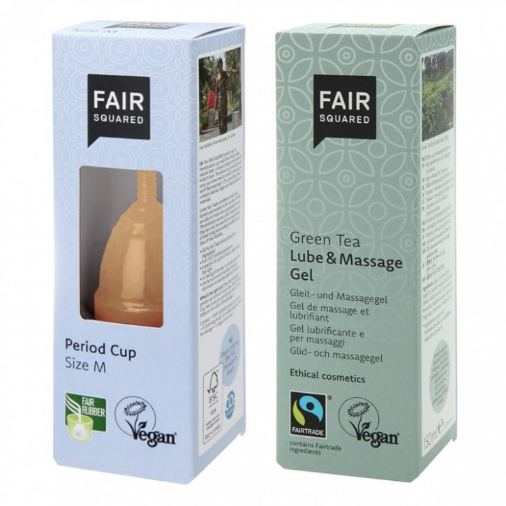 Fair Squared Period Cup Size M + Lube/Massage 150ml