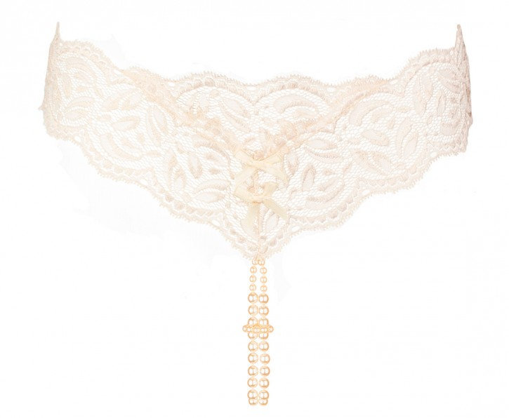 BRACLI Perlenstring YOUR NIGHT creme one size