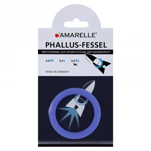 amarelle Phallusfessel (50mm) XL blau