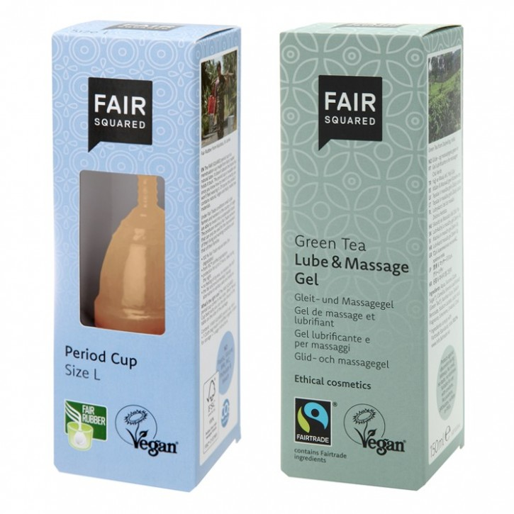 Fair Squared Period Cup Size L + Lube/Massage 150ml